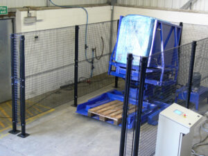 Pallet changer stand alone